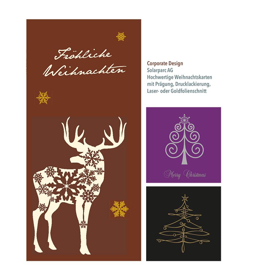 Weihnachtskarten Solarparc AG