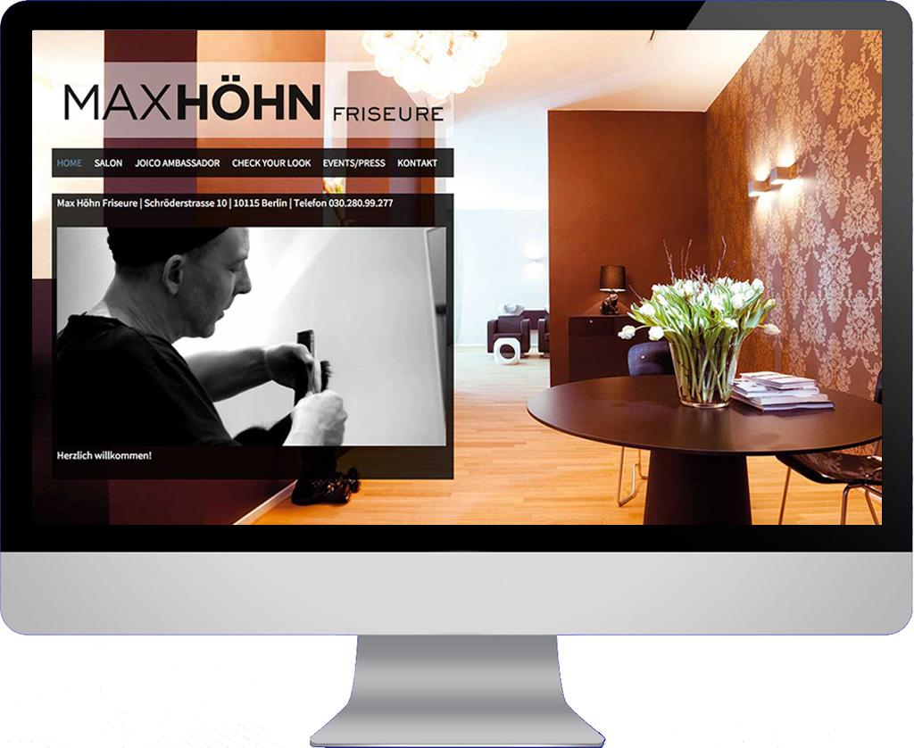 Webseite Max Höhn Friseure
