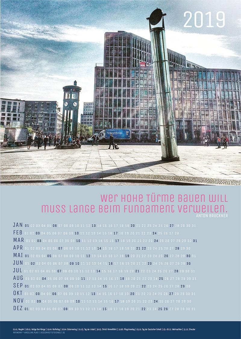 Poster Jahreskalender 2019